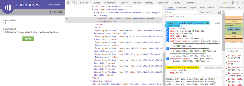 Theme styles highlighted blue. Base styles highlighted yellow.