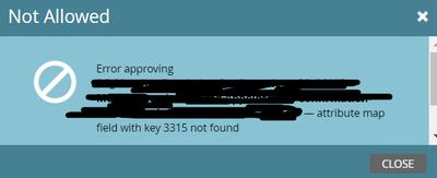 KEY 3315 not found